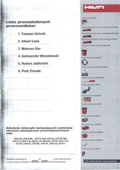 zabezpieczenia bierne - certyfikat 76