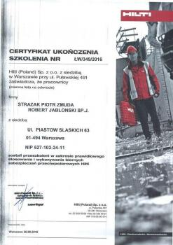 zabezpieczenia bierne - certyfikat 77