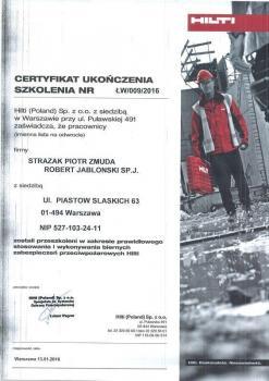 zabezpieczenia bierne - certyfikat 79