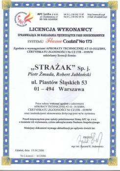 zabezpieczenia bierne - certyfikat 8