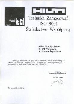 zabezpieczenia bierne - certyfikat 81
