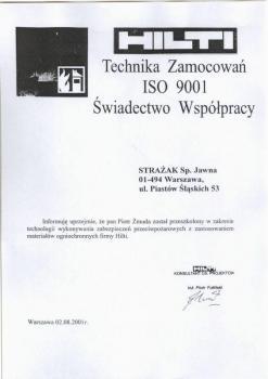 zabezpieczenia bierne - certyfikat 82