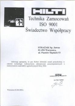 zabezpieczenia bierne - certyfikat 83