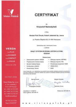 zabezpieczenia czynne certyfikat 101