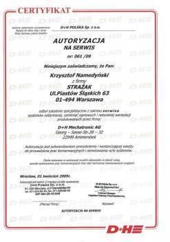 zabezpieczenia czynne certyfikat 106