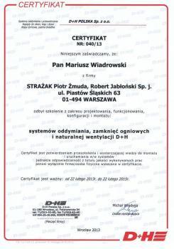 zabezpieczenia czynne certyfikat 108