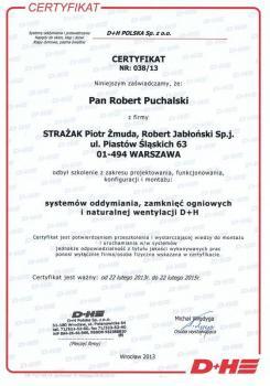 zabezpieczenia czynne certyfikat 109