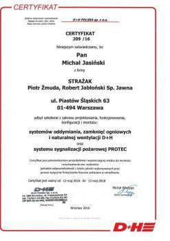 zabezpieczenia czynne certyfikat 113