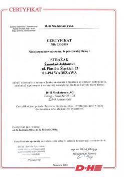 zabezpieczenia czynne certyfikat 114
