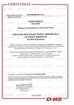 zabezpieczenia czynne certyfikat 115