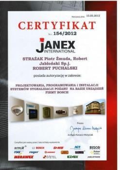 zabezpieczenia czynne certyfikat 116