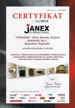 zabezpieczenia czynne certyfikat 117