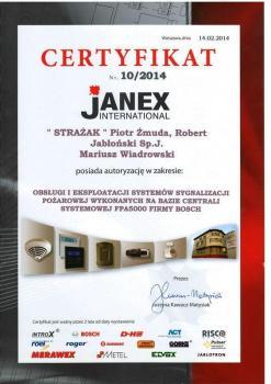 zabezpieczenia czynne certyfikat 118