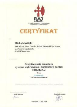 zabezpieczenia czynne certyfikat 12