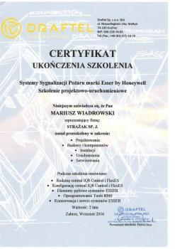 zabezpieczenia czynne certyfikat 125