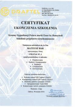 zabezpieczenia czynne certyfikat 126