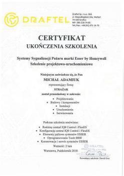 zabezpieczenia czynne certyfikat 127
