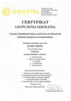 zabezpieczenia czynne certyfikat 129