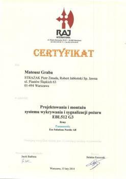 zabezpieczenia czynne certyfikat 13