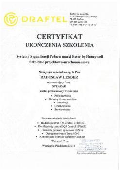 zabezpieczenia czynne certyfikat 130