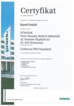 zabezpieczenia czynne certyfikat 143