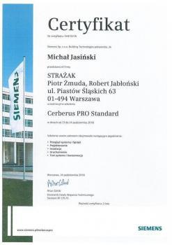 zabezpieczenia czynne certyfikat 145