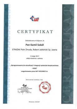 zabezpieczenia czynne certyfikat 146