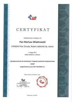 zabezpieczenia czynne certyfikat 149