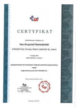 zabezpieczenia czynne certyfikat 150