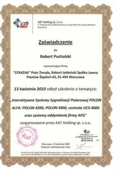 zabezpieczenia czynne certyfikat 151