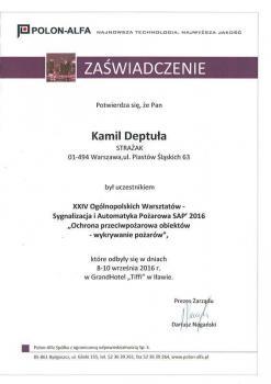 zabezpieczenia czynne certyfikat 168