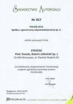 zabezpieczenia czynne certyfikat 174