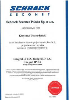 zabezpieczenia czynne certyfikat 180