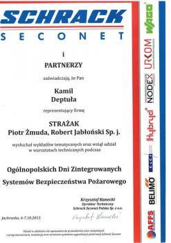 zabezpieczenia czynne certyfikat 184