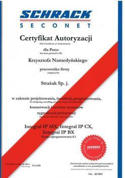 zabezpieczenia czynne certyfikat 187