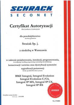 zabezpieczenia czynne -  certyfikat 189