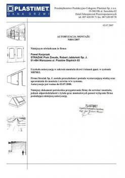 zabezpieczenia czynne certyfikat 19