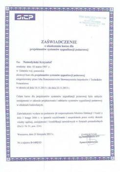 zabezpieczenia czynne certyfikat 20