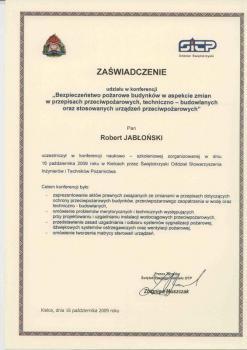 zabezpieczenia czynne certyfikat 21