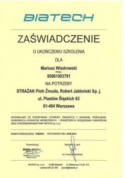 zabezpieczenia czynne certyfikat 23