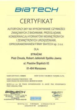 zabezpieczenia czynne certyfikat 24