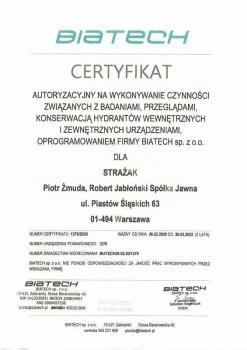 zabezpieczenia czynne certyfikat 25