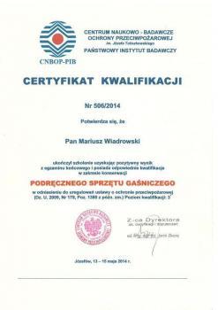 zabezpieczenia czynne certyfikat 28