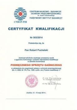 zabezpieczenia czynne certyfikat 29