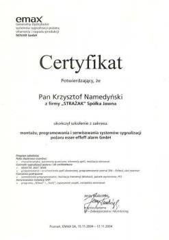 zabezpieczenia czynne certyfikat 31