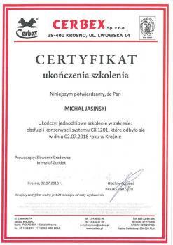 zabezpieczenia czynne certyfikat 4