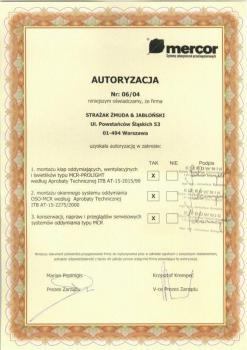 zabezpieczenia czynne certyfikat 45