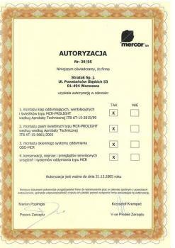 zabezpieczenia czynne certyfikat 46