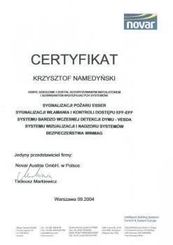 zabezpieczenia czynne certyfikat 47