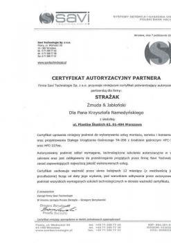 zabezpieczenia czynne certyfikat 50